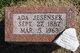 Ada Ethel <I>Menefee</I> Jesensek
