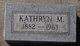 Kathryn M Anderson