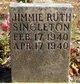 Jimmie Ruth Singleton