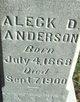 Aleck D Anderson