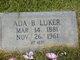 Profile photo:  Ada B. Luker