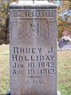 Rhuey Jane <I>McClure</I> Holliday
