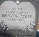 Eliza  Lanier Bronson Acree