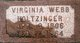 Virginia <I>Webb</I> Holtzinger