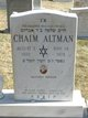 Profile photo:  Chaim Altman