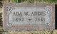 Profile photo:  Ada Addie