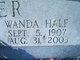Wanda Mae <I>Hale</I> Hyder