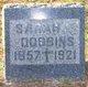 Sarah <I>Hogan</I> Dobbins