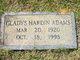Profile photo:  Gladys Hardin Adams
