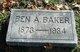 Profile photo:  Ben A. Baker