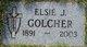 Profile photo:  Elsie J Golcher