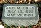"Profile photo:  Amelia Henrietta ""Millie"" <I>Peters</I> Bills"