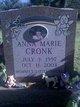 Profile photo:  Anna Marie Cronk