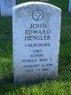 John Edward Hensler