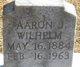 Profile photo:  Aaron Jacob Wilhelm
