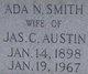 Profile photo:  Ada N. <I>Smith</I> Austin
