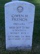 """Owen Hugh """"Frank"""" French"""