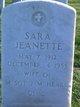 Sara Jeanette Heard