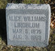 Profile photo:  Alice <I>Williams</I> Lindblom