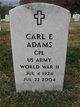 Carl E Adams