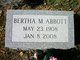 Profile photo:  Bertha M Abbott