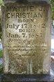 """Martha Jane """"Mattie"""" <I>Givens</I> Christian"""