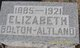 Profile photo:  Elizabeth <I>Bolton</I> Altland
