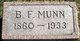 """Benjamin Franklin """"Frank"""" Munn"""