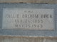 Profile photo:  Pallie <I>Broom</I> Beck