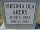 Virginia Ola Akers