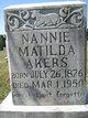 Nannie Matilda <I>Semones</I> Akers