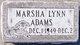 Marsha Lynn Adams