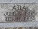 Profile photo:  Ada <I>Thornburg</I> Abbott