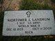 Mortimer L Landrum