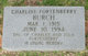 Charline Effie <I>Fortenberry</I> Burch
