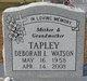 Profile photo:  Deborah L <I>Tapley</I> Watson