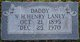 "William Henry ""Henry"" Laney"