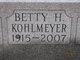Profile photo:  Betty Jane <I>Hartong</I> Kohlmeyer