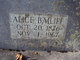 Profile photo:  Alice <I>Smith</I> Bailiff