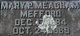 """Mary Peany """"Peenie"""" <I>Meacham</I> Mefford"""