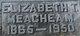 "Elizabeth Venable ""Bettie"" <I>Turner</I> Meacham"