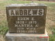 Profile photo:  Martha Ann <I>Miller</I> Andrews
