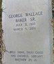 George Wallace Baker, Sr