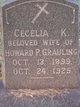 Profile photo:  Cecelia K Grauling