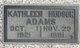 Kathleen <I>Hudson</I> Adams