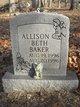 Profile photo:  Allison Beth Baker