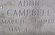Profile photo:  Addie <I>Douget</I> Campbell