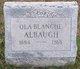 Profile photo:  Ola Blanche Albaugh