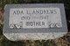 Profile photo:  Ada <I>Church</I> Andrews