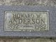 Profile photo:  Howard W. Anderson